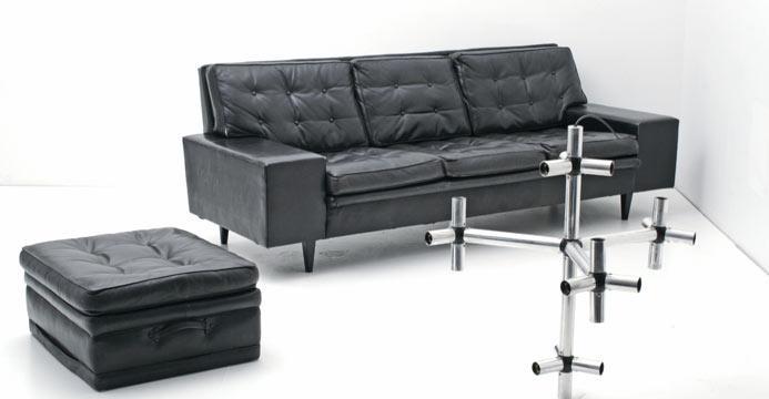 Bogen33 sofa leder sofas 60er jahre sofa und hocker for Couch 60er jahre