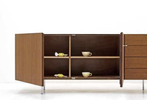 bogen33 schrank sideboard teak sideboard 60er jahre. Black Bedroom Furniture Sets. Home Design Ideas