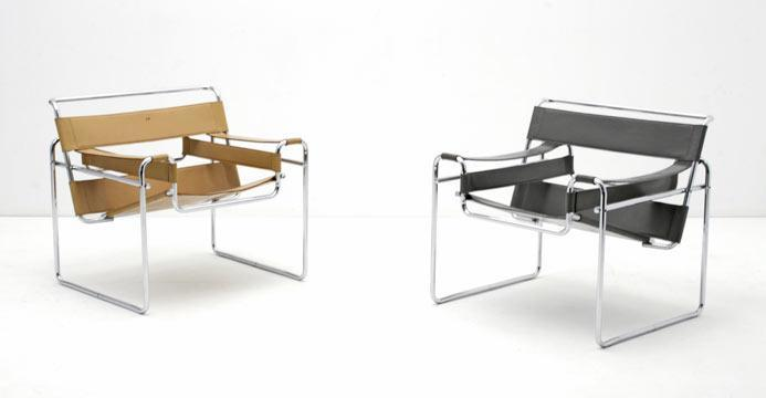 Bogen33 sessel leder sessel wassily chair 4860 for Wassily stuhl design analyse