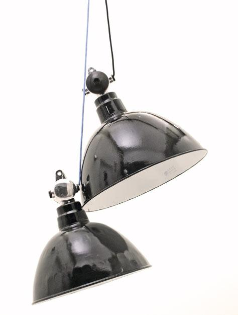 Industrie Email Lampen