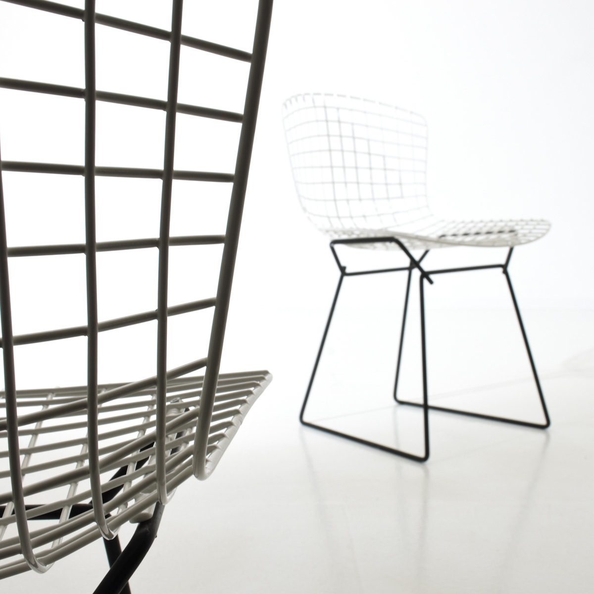 Bertoia Stühle, Knoll International, 6er Set. - 2