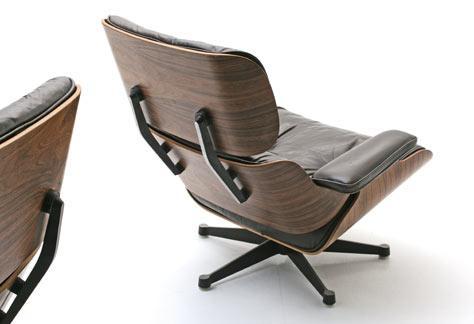 Eames Lounge Stoel : Eames lounge chair leder sessel sessel bogen