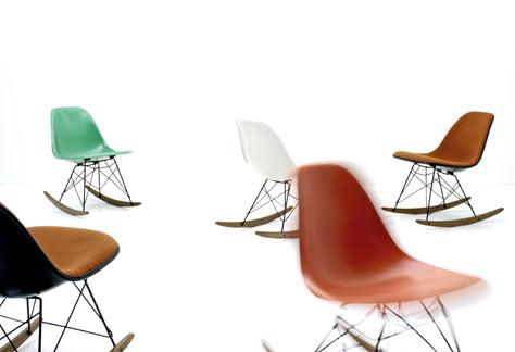 Eames Sidechair mit Rocker Base - 3
