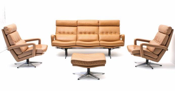 Leder Sessel Sessel Bogen33