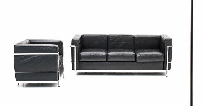 ledersofa corbusier 5484 leder sofas sofa bogen33. Black Bedroom Furniture Sets. Home Design Ideas