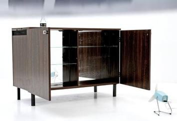 bogen33 schrank sideboard minibar mit k hlschrank 5494. Black Bedroom Furniture Sets. Home Design Ideas