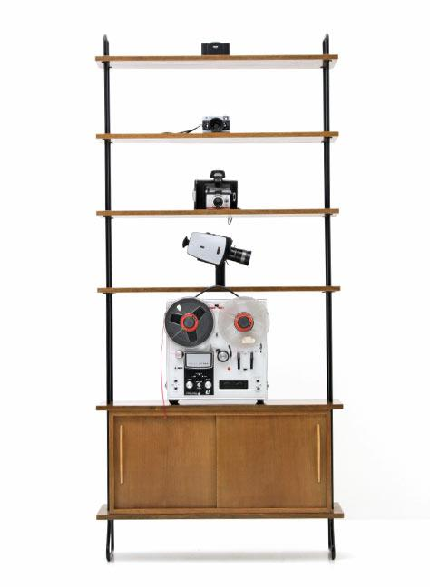 vintage b cherregal 5171 divschr nke schrank bogen33. Black Bedroom Furniture Sets. Home Design Ideas