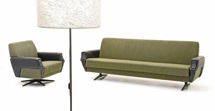 Stoffsofa Und Sessel 60er Jahre