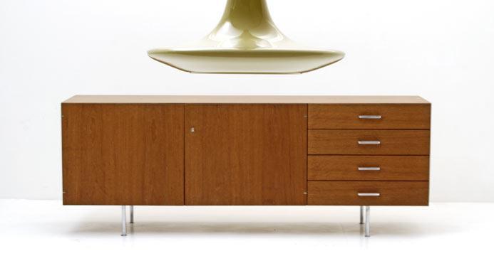teak sideboard 60er jahre 5490 sideboard schrank bogen33. Black Bedroom Furniture Sets. Home Design Ideas